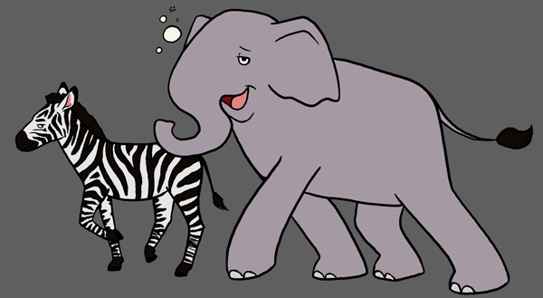 Drunk Elephant and Sober Zebra