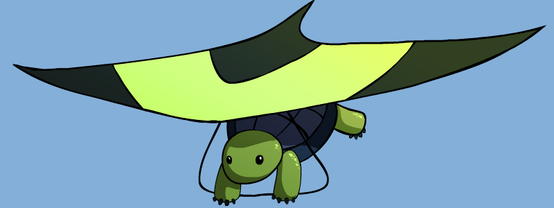 Hang Gliding Turtle